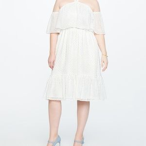 Eloquii  Texture Overlay White Dress